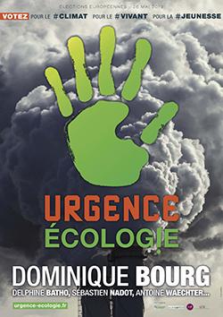 affiche officielle de la liste Urgence écologie